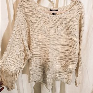 forever 21 cream slouchy sweater